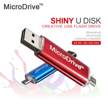 Microdrive USB 2.0 Flash Drive OTG  4g/8g/16g/32g Memory Stick For Android Phone Pen Drive Metal USB Flash Drive