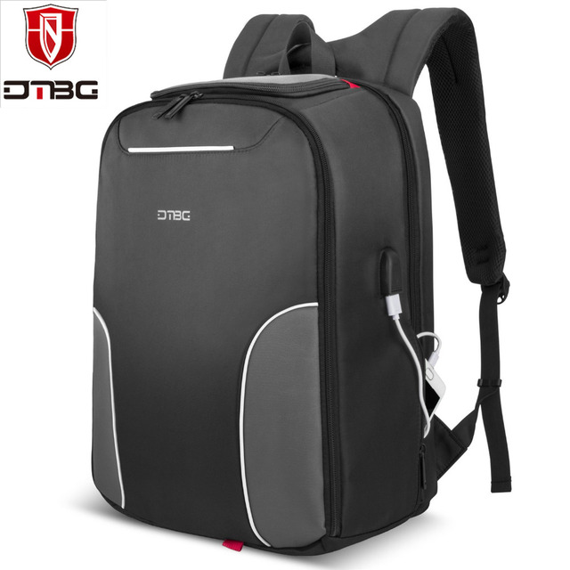 e8be91868839 US $35.32 47% OFF|DTBG 17.3 Inch Laptop Backpack with USB Charging Port  Nylon Lightweight Durable Backpack Travel Bag for Laptop Notebook  Computer-in ...
