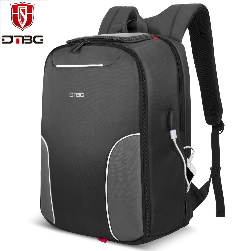 DTBG 17.3 Inch Laptop Backpack with USB Charging Port Nylon Lightweight Durable Backpack Travel Bag for Laptop Notebook Computer ...