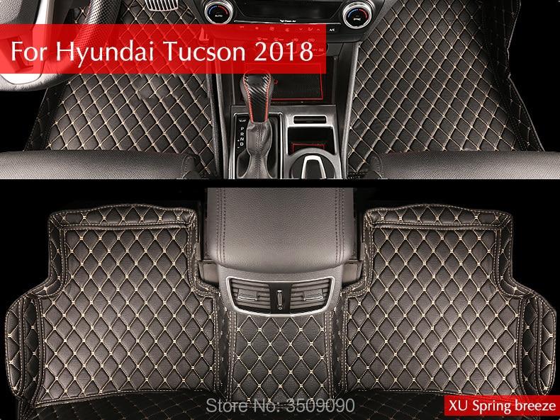 цена на Car Floor Pad Mat Pat Waterproof Dust Interior Styling Car For Hyundai Tucson 2016 2017 2018 2019 3TH