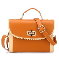 New Vintage Preppy Style Stamp Messenger Bag One Shoulder Bags Women PU Leather Handbags 26 18