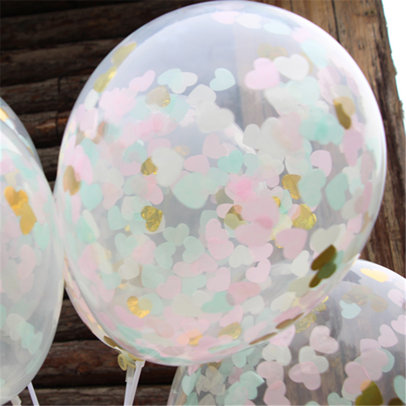 Pink Blue Cream Gold Confetti Balloons For Kids Birthday Party Baby Shower  And Any Grand Event, Wedding Photography Props In Ballons U0026 Accessories  From Home ...