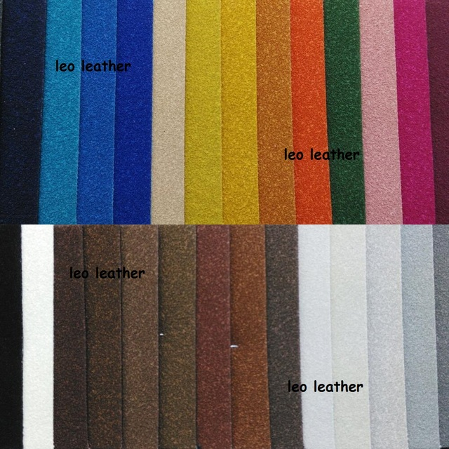 Suede Leather Flocking Synthetic Faux Fabric Pu For Sofa Handbags