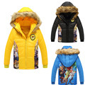 Boys clothes Zootopias Colors wadded jacket child outerwear Hooded coats cartoon baby boy clothes kids Down Parkas