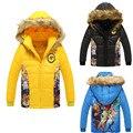 Meninos roupas Zootopias Cores amassado jaqueta criança outerwear casacos Com Capuz dos desenhos animados do bebê menino roupas crianças Para Baixo Parkas