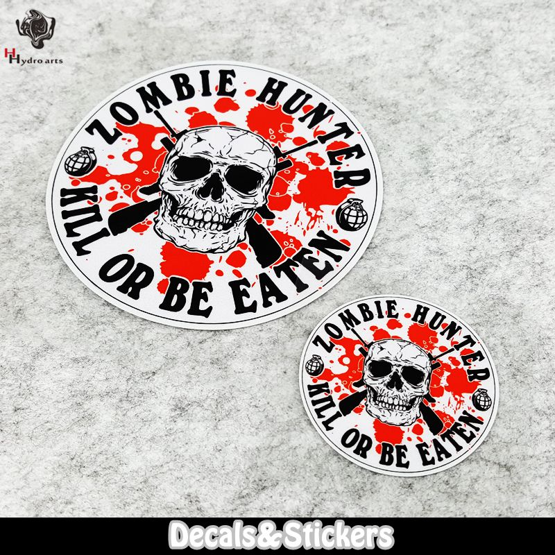 NO.LN039 Zombie Hunter Game 3M Material Reflective Stickers MOTO GP Car Sticker Decals Racing Stickers Motorcycle