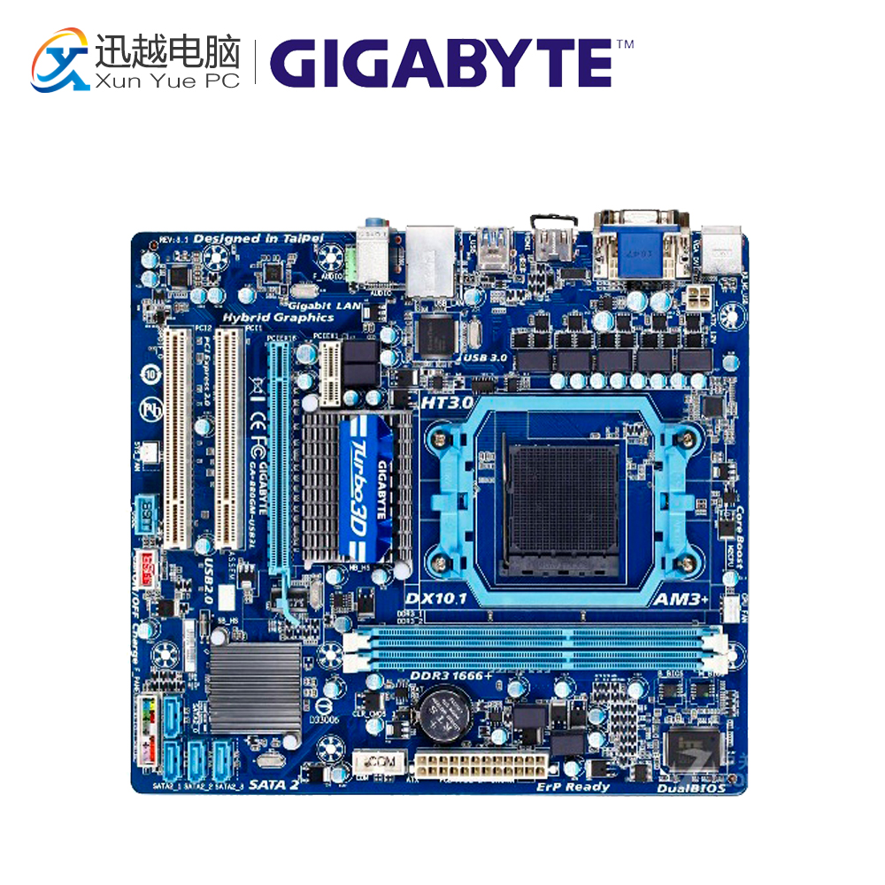 Gigabyte GA-880GM-USB3L Desktop Motherboard 880GM-USB3L 880G Socket AM3+ DDR3 SATA2 USB2.0 Micro ATX gigabyte ga ma770t us3 desktop motherboard 770 socket am3 ddr3 sata2 usb2 0 atx