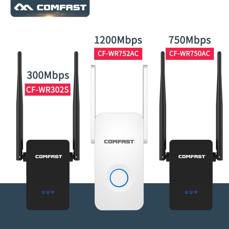 Sem fio n roteador 802.11ac sem fio wifi repetidor 150m-1200 mbps mini repetidor wi-fi amplificador de sinal 2.4g + 5.8g wi fi extensor