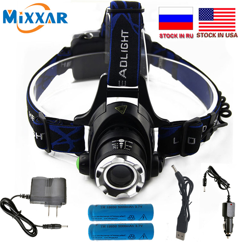 ZK15 6000LM T6 L2 Led Headlamp Zoomable dropshipping Headlight Waterproof Head Torch flashlight Head lamp Fishing Hunting Light