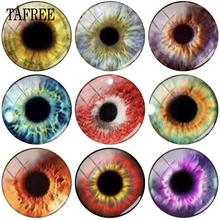 TAFREE Different Eyes 12 18mm Glass Beads Cabochon Dome Cover Pendant Flat Back Making Findings