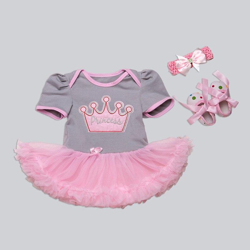 4 Style Différent 22 Pouce Bébé Poupée Vêtements Doux Princesse gris-Rose Robe Pour 55 CM Reborn Bebe Bébés Cadeau Chaude Poupée accessoire