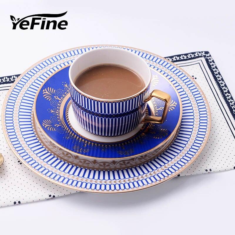 Yefine European Hotel Club Bone China Dinnerware Set 8