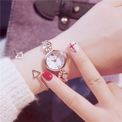 Watch Korean version of the simple female students wind Dream network red various kinds of mini cute heart-shaped bracelet ins cherry powder test watch women junior high school students korean version of the simple dream trend retro cute soft sister