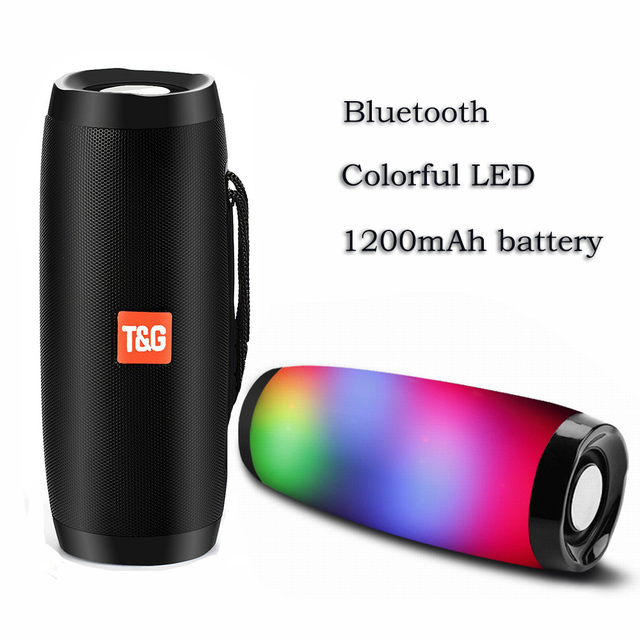 Wireless Bluetooth Speaker Led Lights Column Box Loudspeaker FM TF USB For Cell Phone Computer