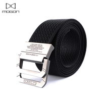 Fashion Men S Canvas Beltskull Metal Tactics Woven Beltcanvas Belt Casual Pants Cool Wild Gift For