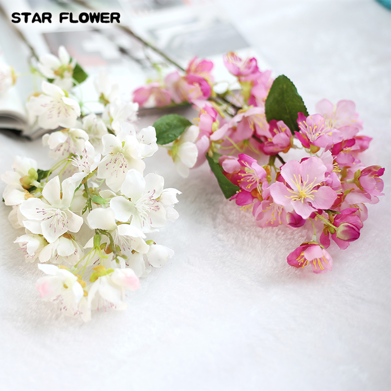 0ffe0d16b3d STAR FLOWER 1PC Vivid Artificial Flower Cherry Blossom Sakura Handmade For  Wedding Party New Year Decorative 5 Colours-in Artificial   Dried Flowers  from ...