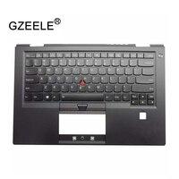 GZEELE New US Laptop Keyboard For Lenovo For ThinkPad X1 Carbon4 With Backlit 01AV154 01AV193 Palmrest