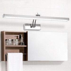Image 3 - LED ミラーライト 40 50 センチメートル防水現代の美容壁ランプステンレス浴室燭台ランプキャビネット照明デコレーションライト