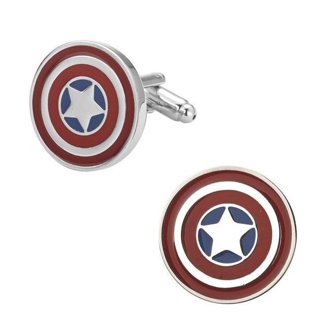 High-end Men's Cufflinks Batman Superman Captain America Iron 007 Super Hero Design
