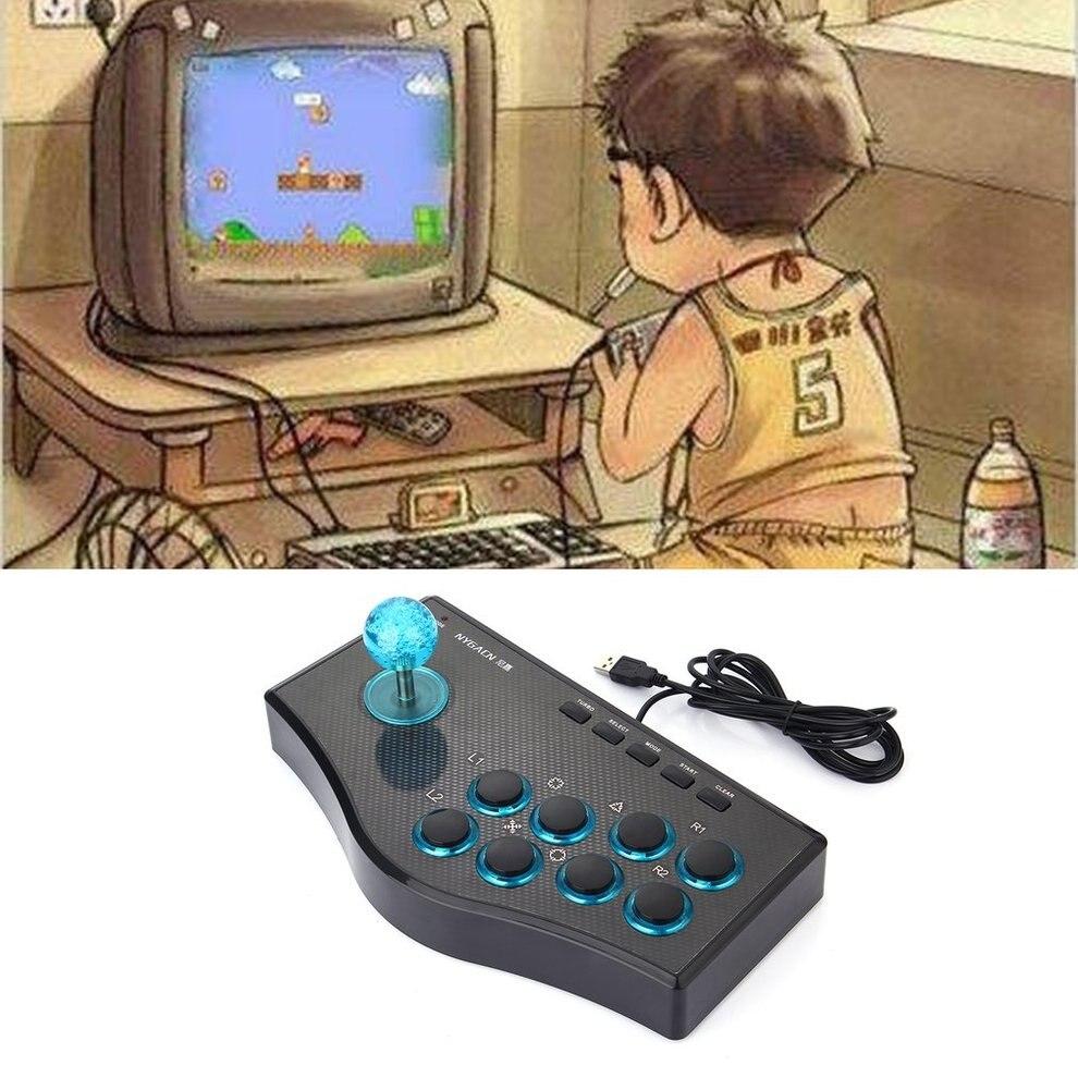 10P3 в 1 USB проводной контроллер игры Аркады Борьба джойстик Стик для PS3 компьютер PC Gamepad Engineering Дизайн игровой консоли