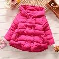 Дети Пальто 2016 пальто младенца девушка Зимние Девушки Супер Теплая куртка детская Мода мультфильм Ангельские крылья Хлопка-проложенный одежды детские куртки