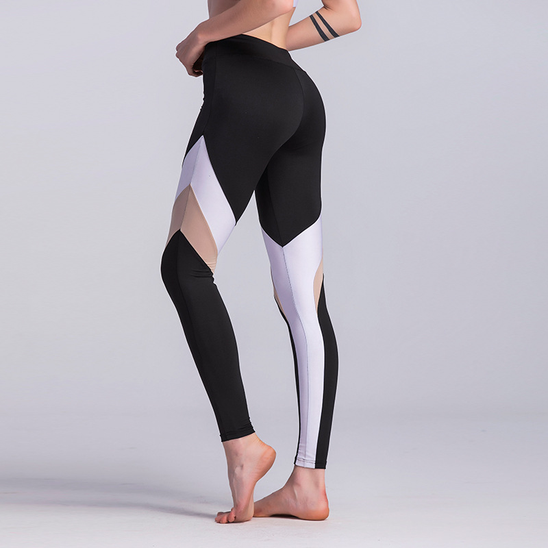 141182937c526e Women's Yoga Leggings Running Fitness Tights Pants Wide Waist Elastic Skins  Sexy Hips Push Up Sportswear Running Sweatpants-in Yoga Pants from Sports  ...