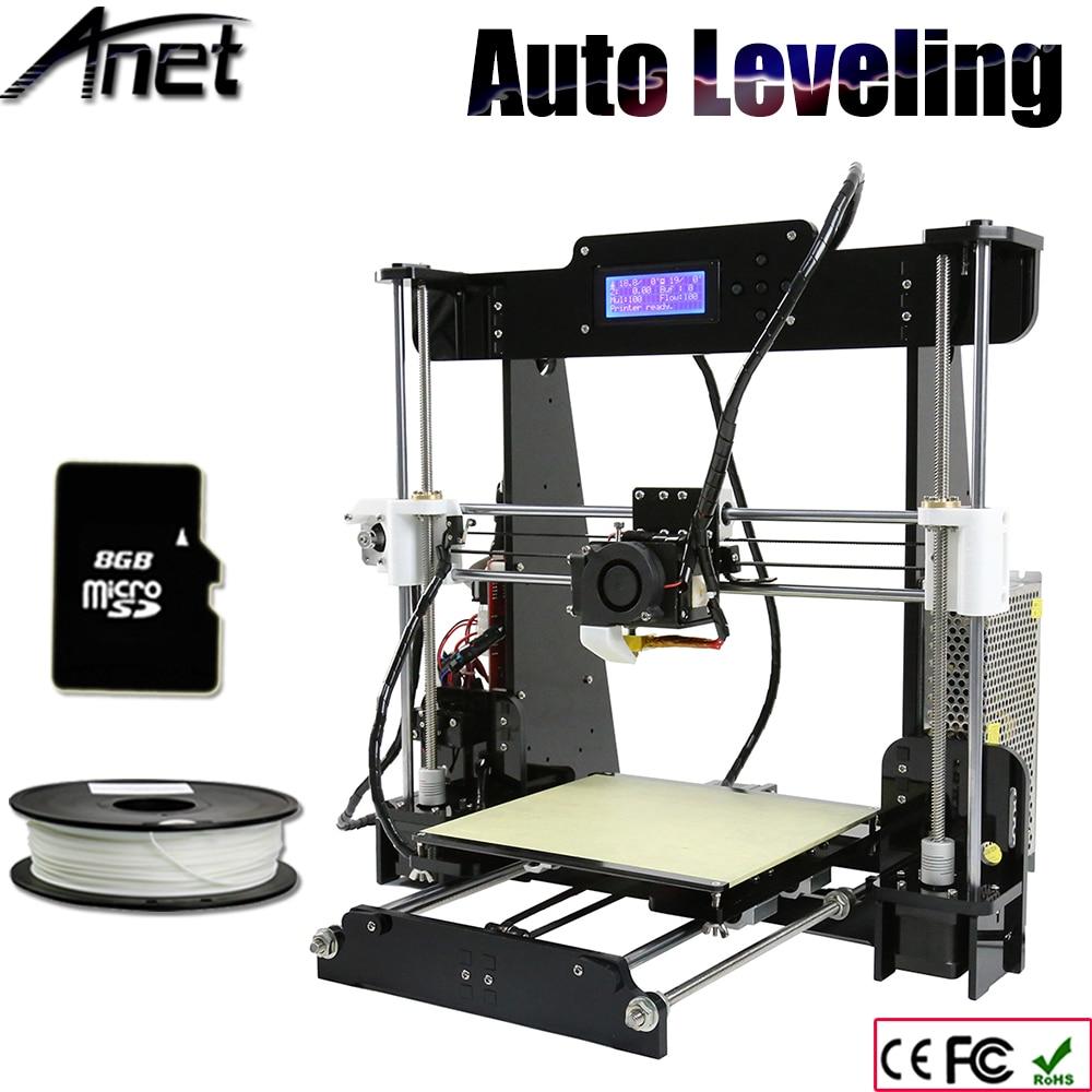 Newest Upgrade Acrylic Auto level 3D printer Reprap prusa i3 DIY kits automatic leveling with 1Roll Filament Aluminum Hotbed 2017 newest tevo tarantula prusa i3 3d printer diy kit