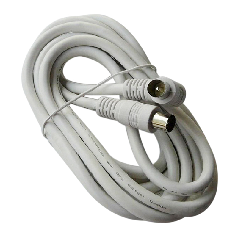 DVB-T2 ATSC Digital TV HDTV Antenna RG316 Cable F Type Male to Male Cable 50 feet USA Shipping