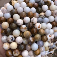 Wholesale Natural Round Spotted Australia Noreena Jaspers Stone Semi Precious Beads Selectable Size 6/8/10mm For Jewelry Making(China)