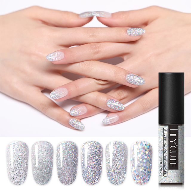 LILYCUTE 5ml Silver Holographic Gel