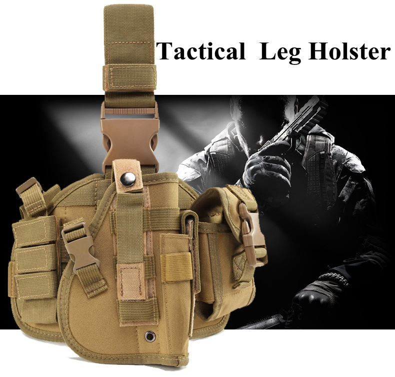 New Tactical Pistol Holster Hunting Military Thigh Leg Holster Adjustable Universal Thigh Pistol Holster Outdoor Hunting in Holsters from Sports Entertainment