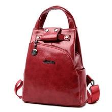 Fashion2019 Women Backpacks Women's Leat