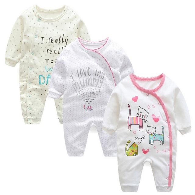 2017 Retail Nova primavera da Roupa Do Bebê Romper Corpo Terno Recém-nascidos Macacão de Manga Longa Crianças Meninos Meninas Roupa Infantil bebes