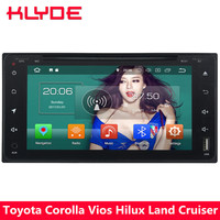 KLYDE 4G Android 8 Octa Core 4G B Оперативная память 32 ГБ Встроенная память dvd плеер автомобиля радио для Toyota Corolla Vitz hilux Vios эхо Rush RunX Terios вела