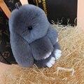 Corazones Q Joyería Pompón Porte Clef Llavero de Piel 13 Colores 13 CM Adorable Pom Pom de Rubbit Llaveros Llavero de la Buena de piel