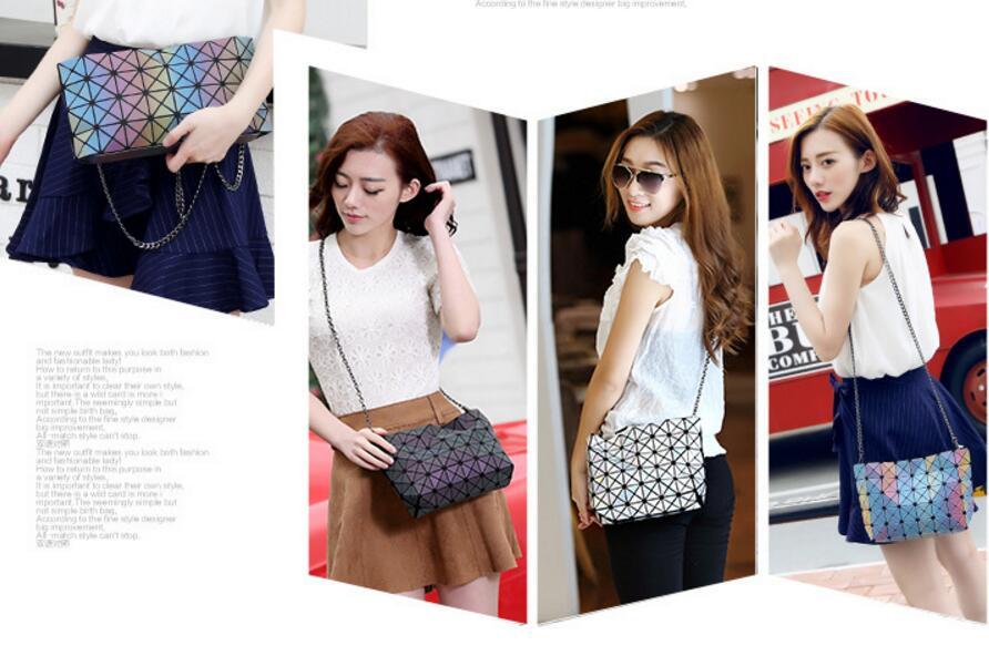 18 Famous Bao Bags Women Geometric Lingge Envelope Handbag Small Chain Clutch Ladies Shoulder Bags Messenger Bag Bao Bolsa 18