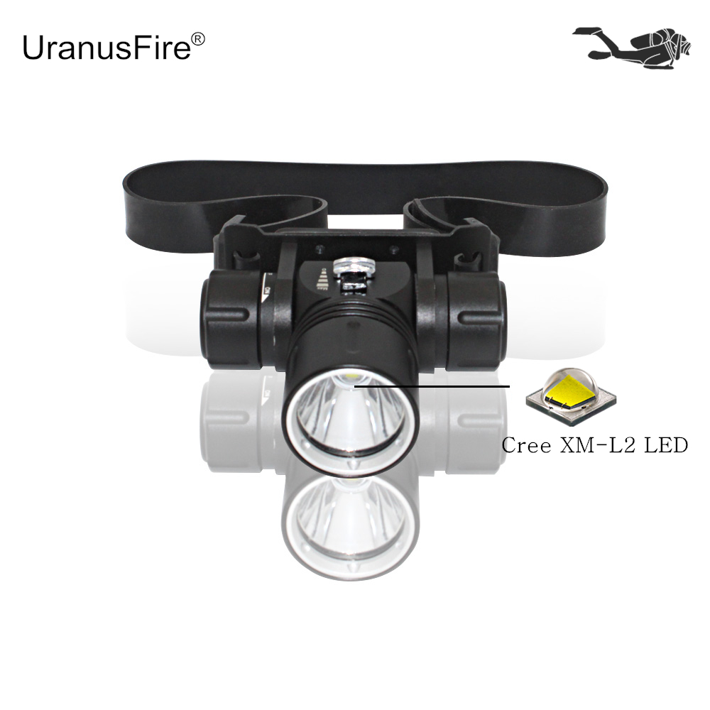 Diving headlamp Scuba dive headlight Cree XM-L2 Waterproof LED head lamp Underwater fish ...