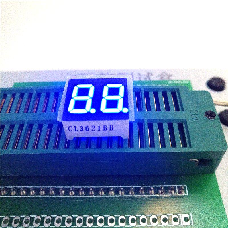 10 шт. новое и оригинальное 2 бит 0.36 дюймов цифровой трубки светодиодный Дисплей большой голубой 7-сегментный общий катод /анод