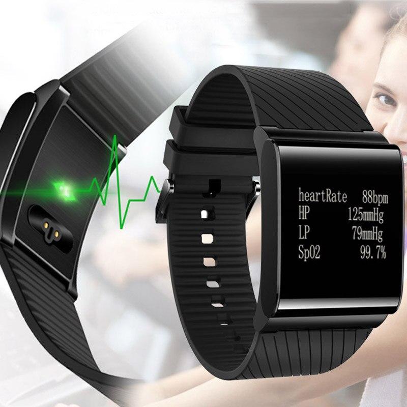 Podomètre de Remise En Forme Intelligente Bracelet Activité Tracker Bande Pulsomètre Mesure de La Pression Artérielle Fit Montre Smart Watch Hommes Femmes Bracelet