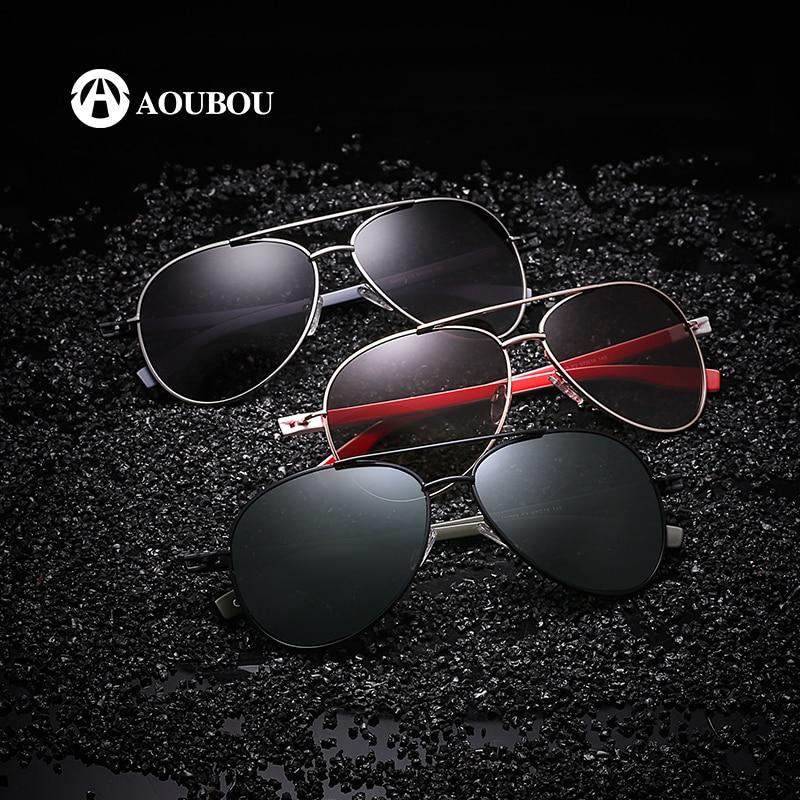 Reka Bentuk Jenama AOUBOU Hot Sale Polarzed Pilot Sunglasses Men - Aksesori pakaian - Foto 3