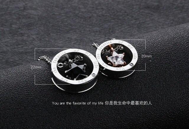 2020 ювелирные изделия ожерелья для влюбленных с белой фотозвездой