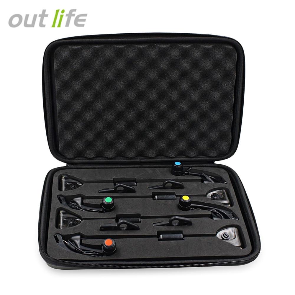 купить Outlife Fishing Alarm Fishing Bite Indicator Alarm Hanger Swinger Fishing Tackle Tools 4pcs / Box по цене 2175.24 рублей