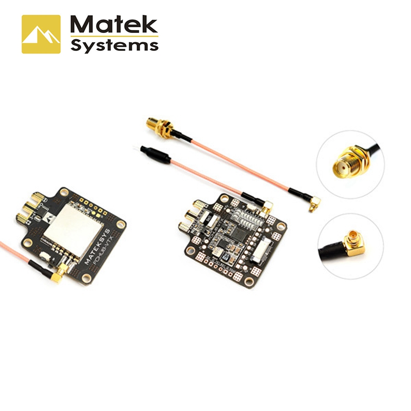 Matek Systems FCHUB-VTX 6~27V PDB 5V/1A BEC w/ 5.8G 40CH 25/200/500mW Switchable Video FPV Transmitter for RC Racing Multi