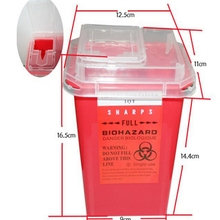 Plastic 1L  Sharps Containers for Tattoo Artists Newest Tattoo Sharps Container Biohazard Needle Disposal FREE Shipping