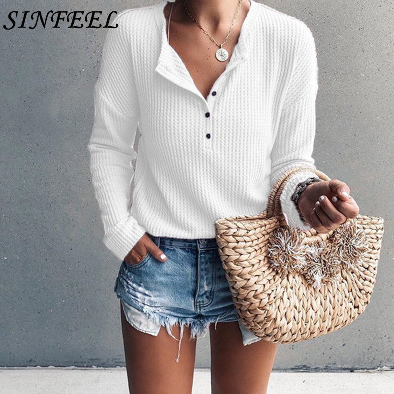 Pull Femme 2019 Women Sweaters And Pullover Spring Long Sleeve Knitted Sweater Loose V Neck Sweater Female Jumper Pullover Tops