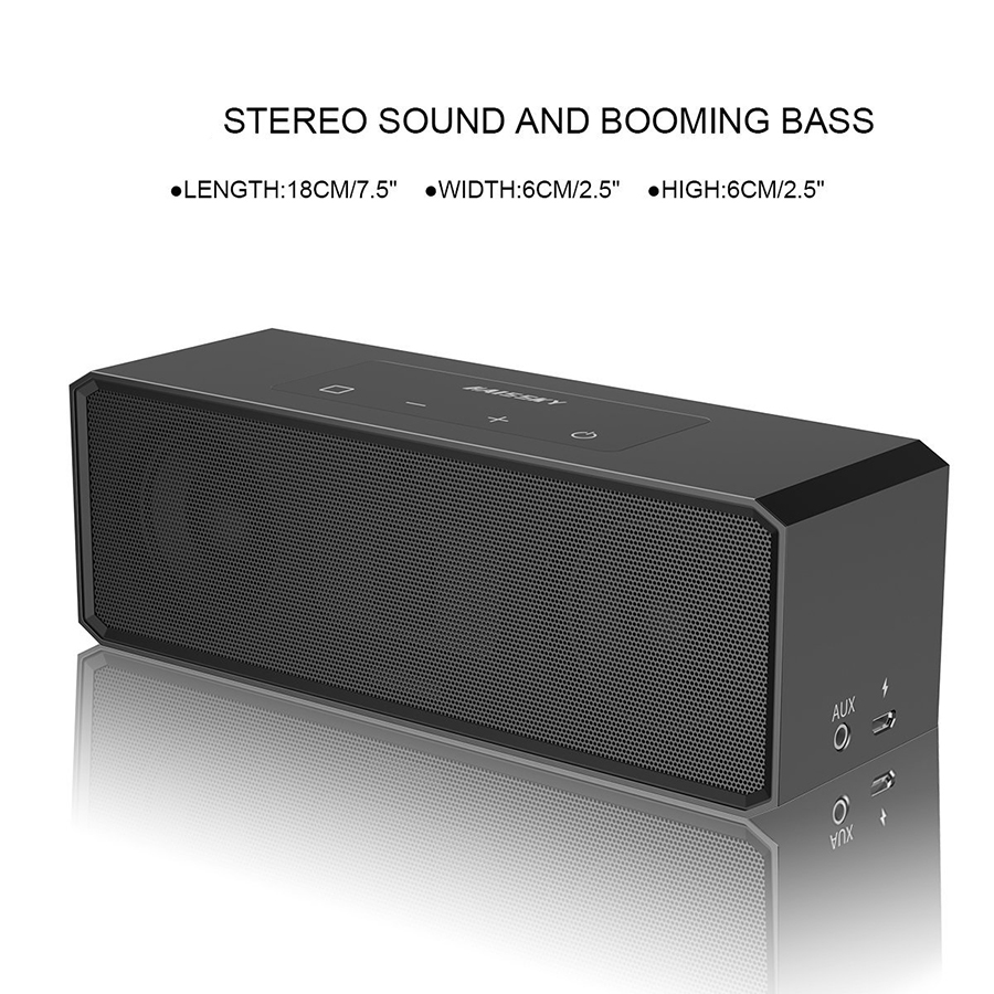 Haissky Mini Wireless Bluetooth Speaker Luxury Metal Stereo 3D Bass Subwoofer Portable Speaker For iPhone Phone Computer PC MP3 dbigness bluetooth speaker portable speaker wireless bass stereo subwoofer support tf aux boombox hd sound for phone samsung