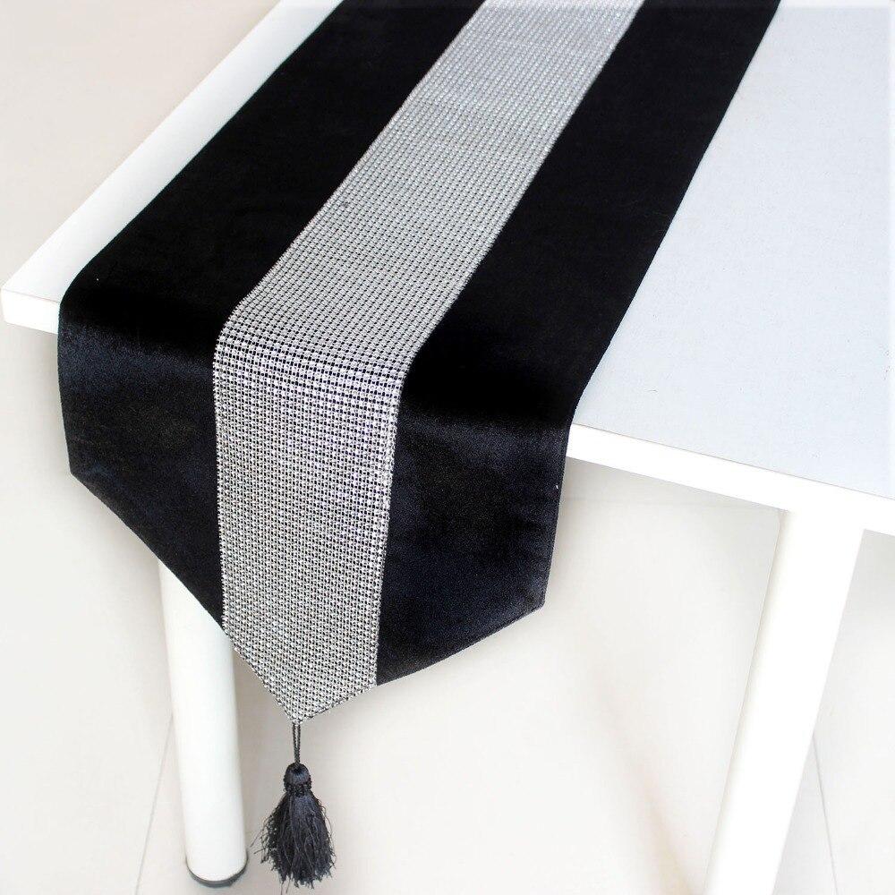 online buy wholesale black velvet table runner from china. Black Bedroom Furniture Sets. Home Design Ideas