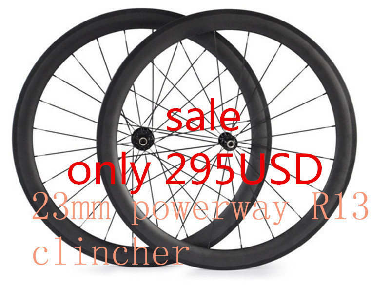 free shipping carbon wheels 700C 50mm clincher bicycle wheelset powerway R13 hubs raod carbon wheel 23mm width bike wheels wheel carbon wheels tubular clincher powerway r13 hub wheels 38mm 50mm 60mm 88mm road carbon bicycle wheels cheapest sale