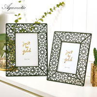 Aqumotic Novel Metal Hollow Frame Rose Flower Photo Frame Iron Picture Frame For Girl 1pc Table