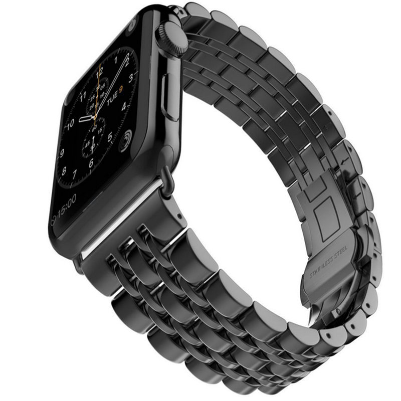Stainless Steel Watch Band For iWatch Apple Watch Band Strap Link Bracelet Classical Lock with Adapter for stainless steel strap classic buckle adapter link bracelet watch band for apple watch